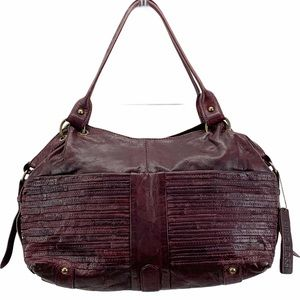 Nino Bossi Diane Leather Satchel Merlot